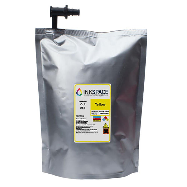 Oce Arizona IJC-256 Compatible UV Ink (2000 mL) - Yellow - dtg.ink.space