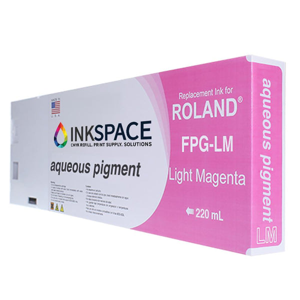 Roland Aqueous Pigment FPG Compatible Ink (220 mL) - Light Magenta - dtg.ink.space