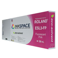Roland ESL3 Eco-Sol Max Compatible Eco-Solvent Ink (220 mL) - Fluorescent Pink - dtg.ink.space
