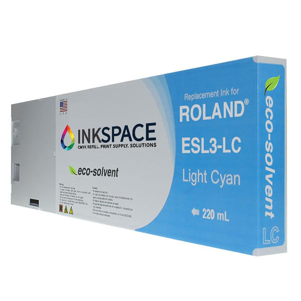 Roland ESL3 Eco-Sol Max Compatible Eco-Solvent Ink (220 mL) - Light Cyan - dtg.ink.space