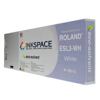 Roland ESL3 Eco-Sol Max Compatible Eco-Solvent Ink (220 mL) - White - dtg.ink.space