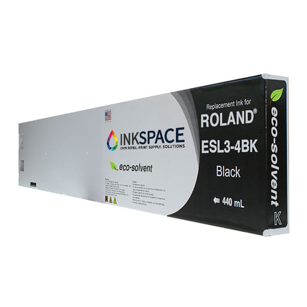 Roland ESL3 Eco-Sol Max Compatible Eco-Solvent Ink (440 mL) - Black - dtg.ink.space