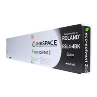 Roland ESL4 Eco-Sol Max 2 Compatible Eco-Solvent Ink (440 mL) - Black - dtg.ink.space
