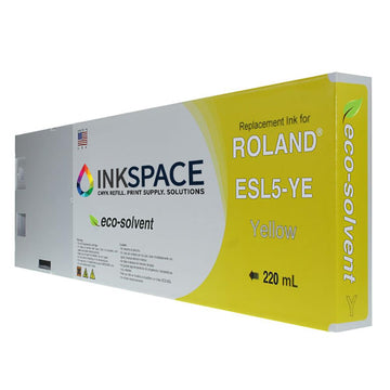 Roland ESL5 Eco-Sol Max 3 Compatible Eco-Solvent Ink (220 mL) - Yellow