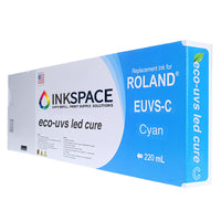 Roland Eco-UV EUVS Compatible UV Ink (220 mL) - Cyan - dtg.ink.space