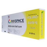 Roland Eco-UV EUVS Compatible UV Ink (220 mL) - Yellow - dtg.ink.space