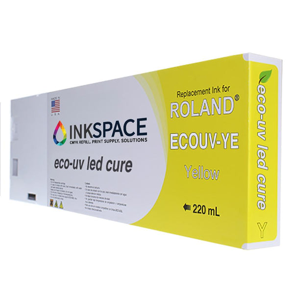 Roland Eco-UV EUV Compatible UV Ink (220 mL) - Yellow - dtg.ink.space