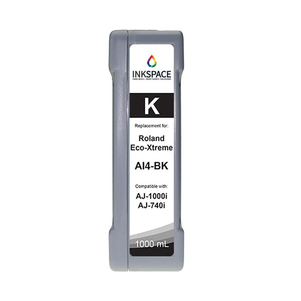Roland Eco-Xtreme LT AI4 Compatible Eco-Solvent Ink (1000 mL) - Black - dtg.ink.space