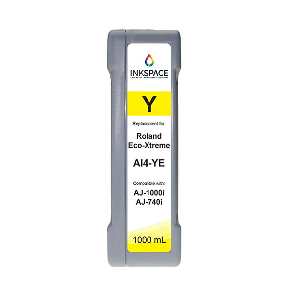 Roland Eco-Xtreme LT AI4 Compatible Eco-Solvent Ink (1000 mL) - Yellow - dtg.ink.space