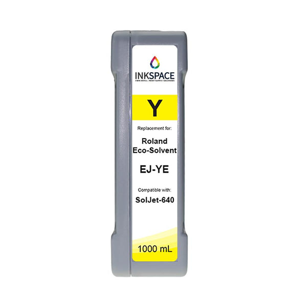Roland SolJet EJ-640 Compatible Eco-Solvent Ink (1000 mL) - Yellow - dtg.ink.space