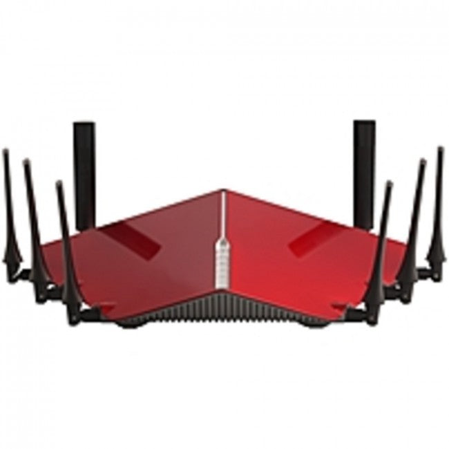D-Link DIR-895L/R IEEE 802.11ac Ethernet Wireless Router - 2.40 GHz ISM Band - 5 GHz UNII Band - 8 x Antenna(8 x External) - 5332 Mbit/s Wireless Speed - 4 x Network Port - 1 x Broadband Port - USB - Gigabit Ethernet - VPN Supported - Desktop