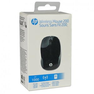 HP 200 2.4GHz Wireless 3-Button Optical Scroll Mouse w/USB Receiver (Gloss Black)