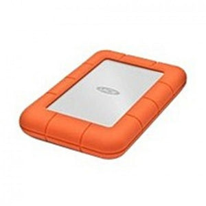 LaCie Rugged Mini 301558 1 TB USB 3.0 Portable External Hard Drive - Orange