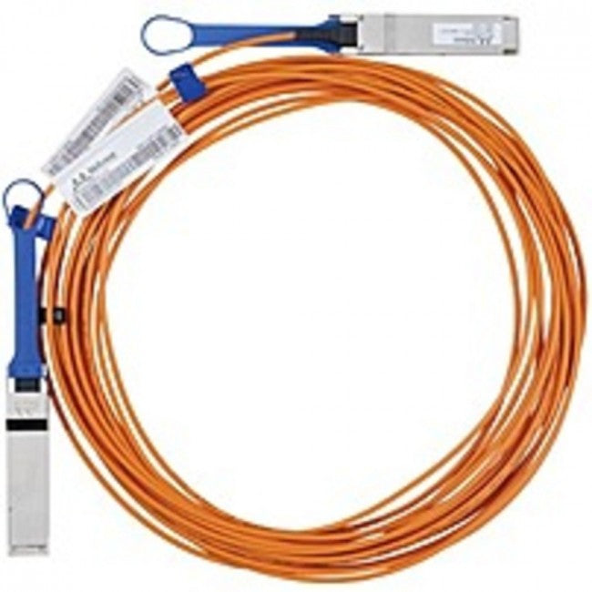 Mellanox Fiber Optic Cable - Fiber Optic for Network Device - 32.81 ft - Male QSFP - Male QSFP