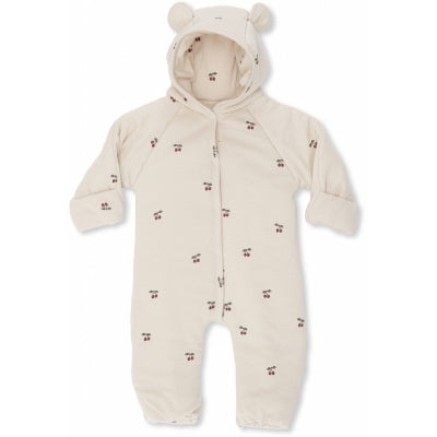 KONGES SLØJD - NEWBORN ONESIE WIITH HOOD, Cherry
