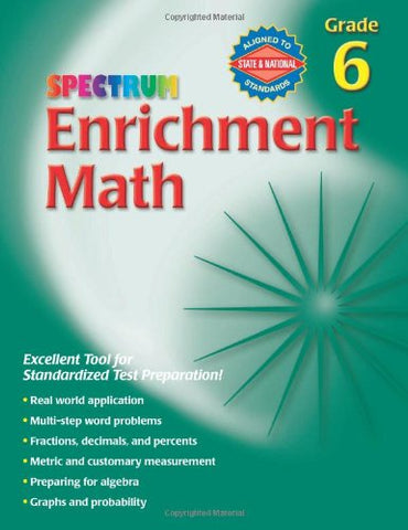 Spectrum Enrichment Math, Grade 6