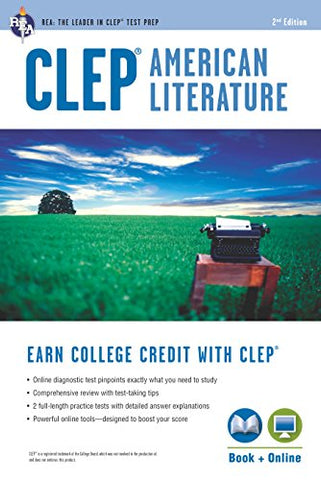 Clep American Literature Book + Online (College Placement Test Preparation)