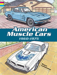 American Muscle Cars, 1960-1975 (Dover History Coloring Book)