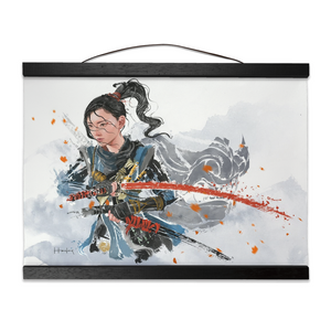 [No Mask] Ghost of Tsushima Hanging Canvas Print - Haze Long Fine Art and Resources Store
