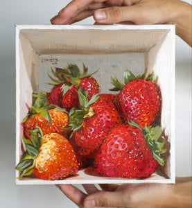 Strawberries in a box - Canvas Print - Haze Long Fine Art & Resources Store