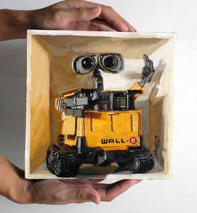 Wall-E in a box - Canvas Print - Haze Long Fine Art & Resources Store