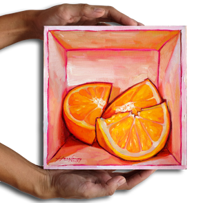 Oranges in a box - Original Art - hazelong-com