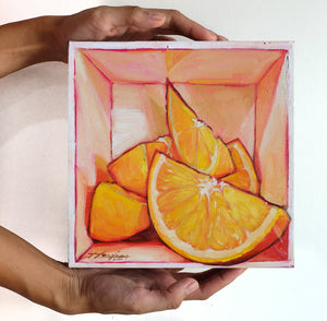 Oranges in a box II - Original Art - Haze Long Fine Art & Resources Store