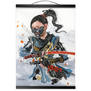 Ghost of Tsushima Hanging Canvas Print - Haze Long Fine Art & Resources Store