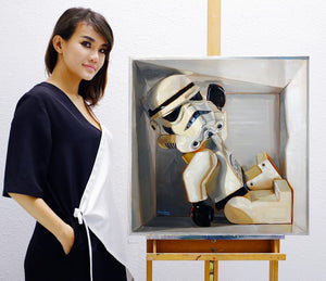 Stormtrooper in a box - Canvas Print - Haze Long Fine Art & Resources Store