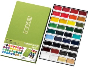 Kuretake Gansai Tambi Watercolor Set of 36 - Haze Long Fine Art and Resources Store
