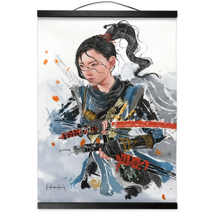[No Mask] Ghost of Tsushima Hanging Canvas Print - Haze Long Fine Art & Resources Store