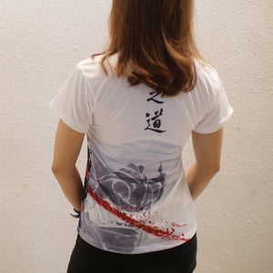 [No Mask] Ghost of Tsushima Women's T-shirt - Haze Long Fine Art & Resources Store