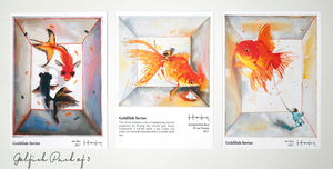 Postcards of Paintings by Haze Long Set of 3 - Haze Long Fine Art & Resources Store