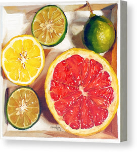 Citrus Medley in a box - Canvas Print - Haze Long Fine Art & Resources Store