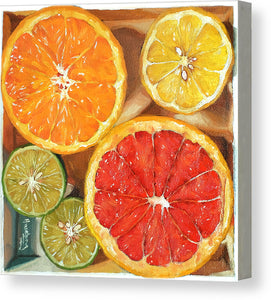 Citrus Medley in a box IV - Canvas Print - Haze Long Fine Art and Resources Store