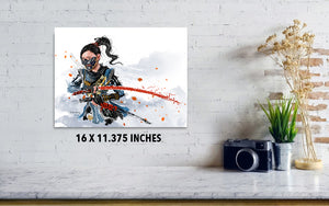 Ghost of Tsushima Print - Haze Long Fine Art and Resources Store