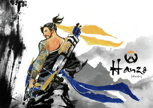 Hanzo Overwatch - Poster - Haze Long Fine Art & Resources Store