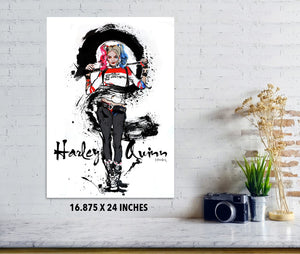 Harley Quinn - Poster - Haze Long Fine Art & Resources Store