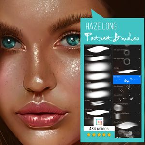 Haze Long Procreate Portrait Brushes - hazelong-com