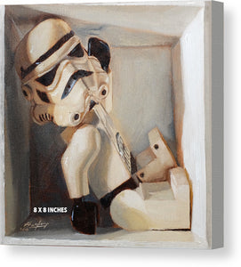Stormtrooper in a box - Canvas Print - Haze Long Fine Art and Resources Store
