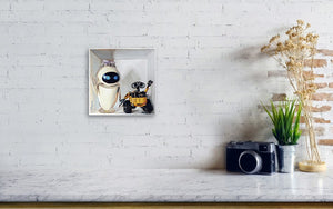 Eve and Wall-E Happily Ever After - Canvas Print - Haze Long Fine Art & Resources Store
