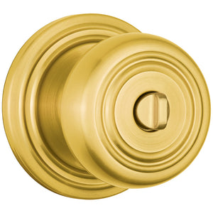Webley Push Pull Rotate Bed / Bath door knob in Polished Brass