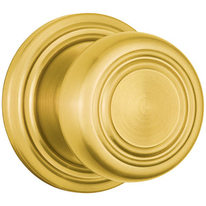Webley Push Pull Rotate Hall / Closet door knob in Polished Brass