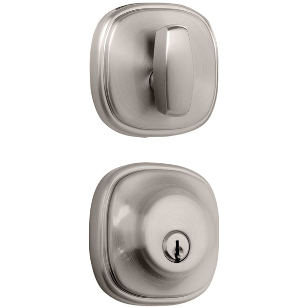 Weldon deadbolt in Satin Nickel