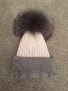 Adult cashmere and angora hat
