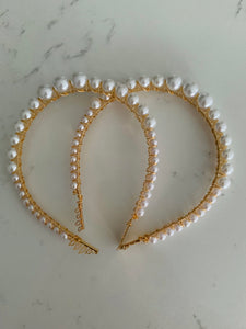 Pearl hairband with comb (small size pearls )