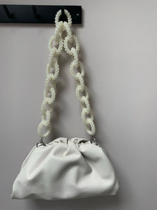 Handmade pearl link bag strap 4-5 days delivery