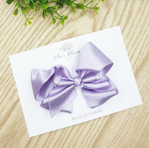 Princess Purple Shimmer Bow
