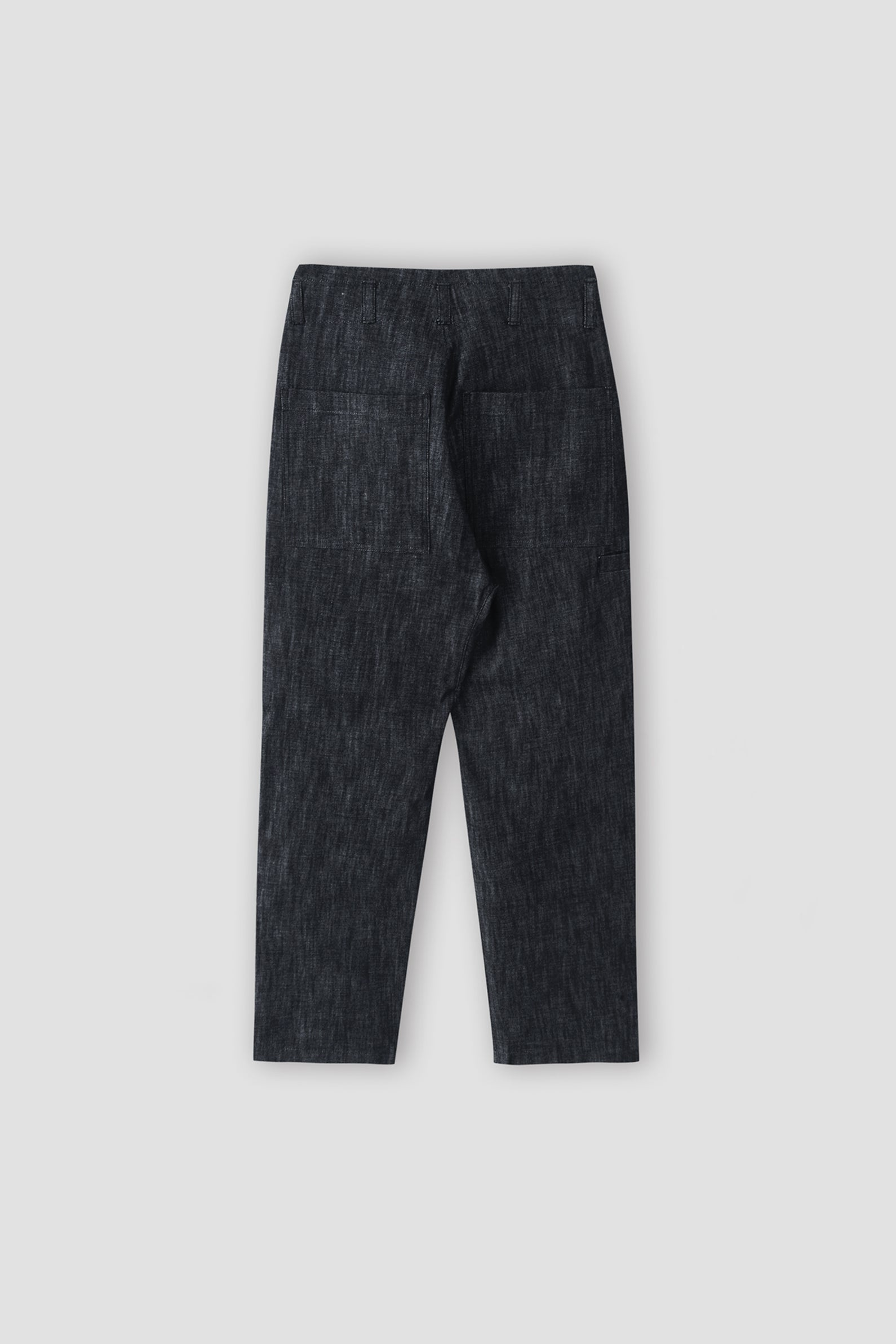 Denim Tuck Trousers