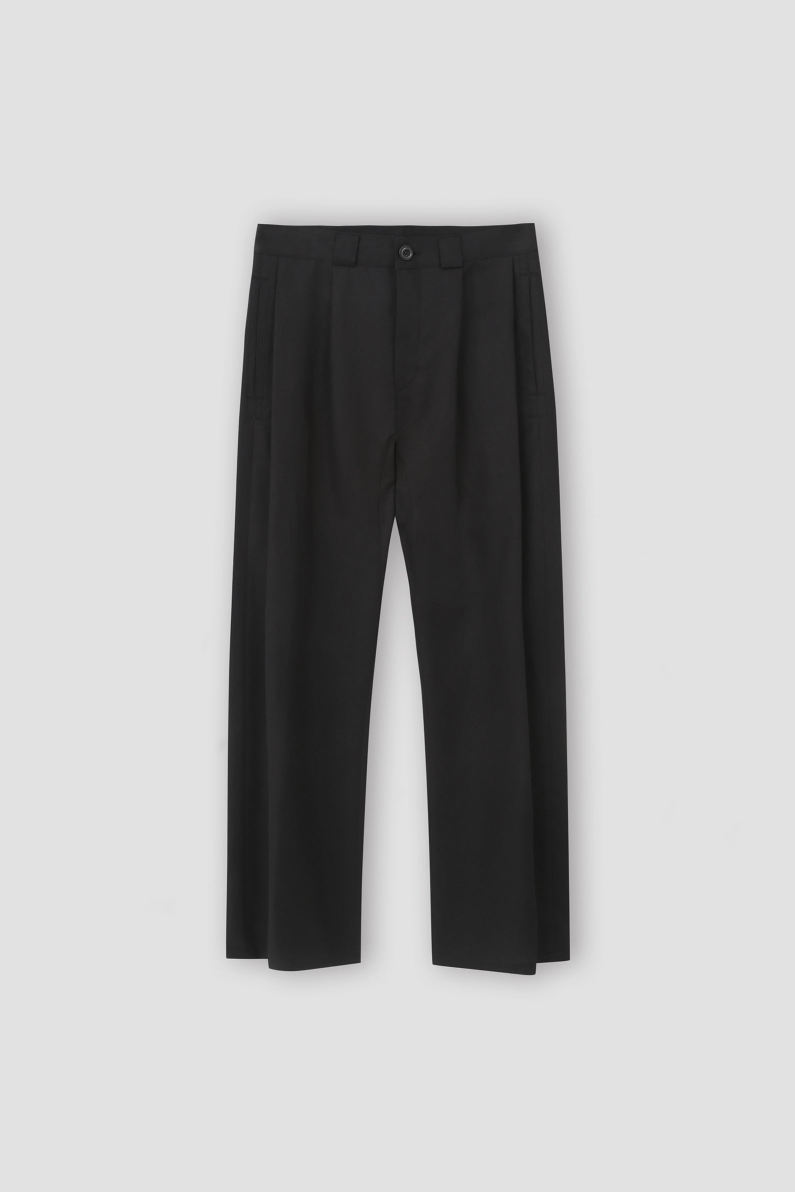 Linen-blend Side Pleated Trousers